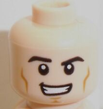 Lego Light Flesh Dual Sided Head x 1 Smiling & Angry Faces for Minifigure