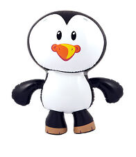 INFLATABLE PENGUIN GIANT 56CM BLOW UP NOVELTY ANIMAL PARTY SWIMMING POOL TOY UK