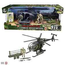 World Peacekeepers Military Combat Army Helicopter Toy with 2 Action Figures