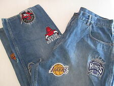 Vtg NBA Blue Denim Jeans Men's Size 38 x 29  Basketball Teams