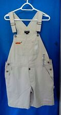 Ralph Lauren Polo Jeans Co. Bib Overall Shorts- M, ivory denim SOFT,Comfy!