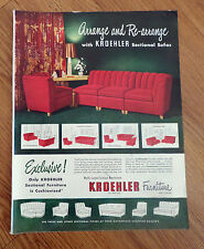 1948 Kroehler Furniture Ad Arrange & Re-Arrange with Sectional Sofas