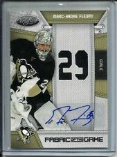 Marc-Andre Fleury 10/11 Panini Certified FOTG Autograph Game Used Jersey #15/25