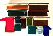 Vintage Jewelry Presentation Box Lot Antiq Velvet Colorful Ring Display Bulova