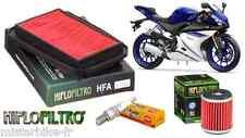 Pack Révision Entretien Filtre à Huile/Air Bougie Yamaha YZF-R125 5D7 2008-2016