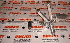 Ducati Paul Smart LH footpeg, bracket 82411031A, shift lever, linkage assembly