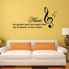 English Quote Saying Vinyl Wall Art Decal Home Decor musical notes Wall Stickers