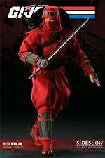 "1/6 G.I. Joe Cobra Red Ninja 12"" Figure Sideshow Collectibles Used"