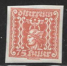 Fai un'offerta Austria 1921 (emissione di Repubblica) 75 HUNGARIAN GIORNALE TIMBRO
