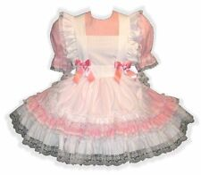 """""""Cassie"""" Custom Fit PINK Adult Baby LG Sissy Dress & Pinafore LEANNE"""