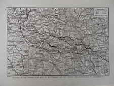 WW1 WAR MAP 1918 RETREAT OF GERMAN LEFT WING TO NOVEMBER 3RD, INSET VALENCIENNES