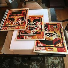 OBEY Giant 2016 Shepard Fairey Obey 3 Face Collage Litho Set Signed