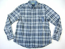 AMERICAN RAG COMMODORE PLAID DARK BLUE XL SLIM FIT BUTTON DOWN SHIRT MENS NWT