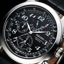 NEW MEN'S SEIKO ALARM CHRONOGRAPH PERPETUAL CALENDAR SPORTS WATCH SPC133P1