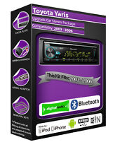 Toyota Yaris DAB radio, Pioneer stereo CD USB AUX player, Bluetooth Handsfree