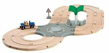 Brio city road track set avec la station de carburant