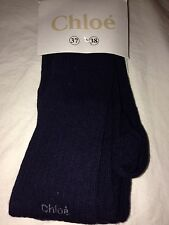 NEW Chloe Authentic Young Girls Navy Cotton Tights 13 14 15 16 Years Size 37 38
