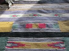 VINTAGE  INDIAN STYLE RUG WALL HANGING TEXTILE ART MULTICOLOR
