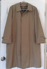 BURBERRY SZ 40 REG Vintage Mens Trench Coat w/ Nova Check Wool Removable Lining