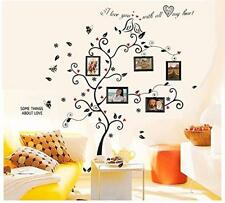 Wall Sticker Kiss Birds Hearts Leaves Trees Black Photo Vinyl Room Decor Decal