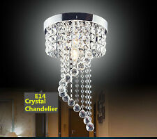 Modern Silver Chrome Crystal ceiling Lights lamp Fixtures pendant Chandelier