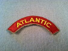 US Army Transportation Terminal Command Atlantic Tab Khaki Cut Edge Patch 53C