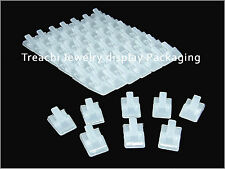 TC Wholesale Lot of 20 Portable Plastic Jewelry Display Frost Ring Stand Holder