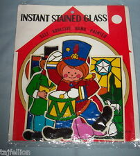 INSTANT STAINED GLASS: Christmas: Nativity, Carolers, Little Drummer,Candles&Hol