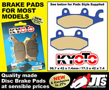 REAR SET OF DISC BRAKE PADS TO SUIT E-TON QUADS EXL 150 EXL150 Eukon St (05-07)