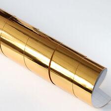 2x DIN a4 Pellicola wrapping Cromo Oro 21cm x 29,7cm Pellicola Auto Con Canali Aria