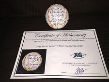 2013 TEXAS RANGERS TEAM SIGNED GAME USED BASEBALL-DEREK HOLLAND MURPHY+10-COA