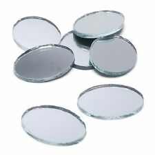 1.5 x 2 inch Glass Craft Small Oval Mirrors Bulk 100 Pieces Mirror Mosaic Tiles