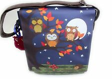 SANTORO LONDON Eclectic Night OWL Shoulder Bag Cross Body Satchel BNWT UK Seller