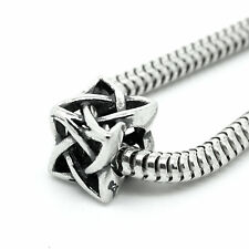 CELTIC KNOT Square- Scottish-Irish-Solid 925 sterling silver European charm bead