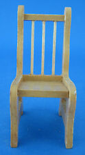 Dollhouse Miniature Light Wood Kitchen Dining Chair Spindle Back Vintage