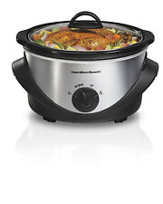 New Hamilton Beach 33141 Kitchen Counter-Top 4-Quart Oval Slow Cooker Crock Pot
