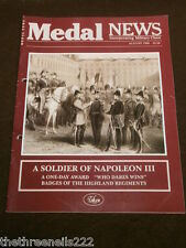 MEDAL NEWS - SOLDIER OF NAPOLEON III - AUG 1995
