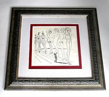 Salvador Dali vintage 67 years old rarely seen art one of a kind custom framed