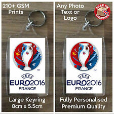 Personalised Custom Photo Large Keyring - UEFA EURO 2016 - 2 Sided