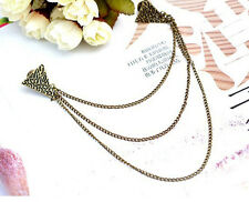 Bronze Chain Blouse Shirts Collar Clip Neck Tip Brooch Pin for Banquet Party