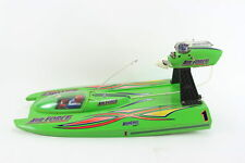 VINTAGE AQUACRAFT AIR FORCE FIBERGLASS RC REMOTE CONTROL AIR-BOAT HYDROPLANE GRN