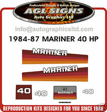 1984 1985 1986 1987 MERCURY MARINER 40 hp OUTBOARD DECALS