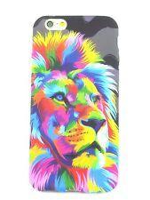 Coque Silicone GEL TPU Souple Fantaisie Lion Couleur pour Apple Iphone 6 6S