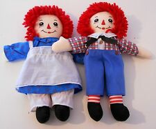 "Vintage 1990's Applause - RAGGEDY ANN Ragdoll  - Ann & Andy - 12"" Plush Toys (9)"