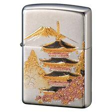 Zippo Ukiyoe Five-Storied Pagoda Electroforming Japan Limited F/S Oil Lighter