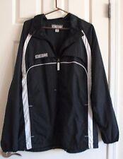 Mens CCM Black white Zip up Mesh Lined Windbreaker Hockey Jacket size Large