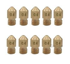 10Pcs Brass 0.4mm Extruder Nozzle Print Head for MK8 Makerbot Reprap 3D Printer