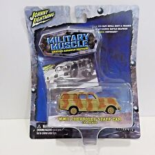 2004 Johnny Lightning Military Muscle Diecast WWII Chevrolet Staff Car, New