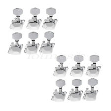 12 Left Semiclosed Guitar Tuning Pegs Tuners Machine Heads -Chrome