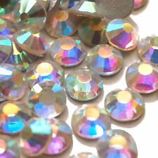 Crystal AB 5mm SS20 Flat Back Non-Hotfix Glass Rhinestones Diamante